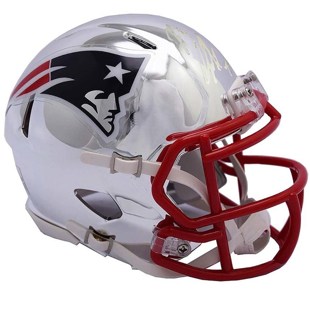 New England Patriots Rob Gronkowski Mini Helmet Shadowbox w card