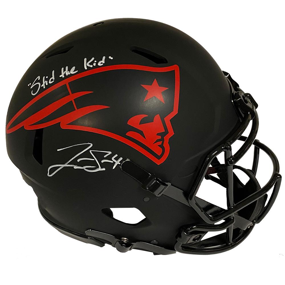 Jarrett Stidham Autograph Helmet Inscription Authentic Eclipse New England Picture